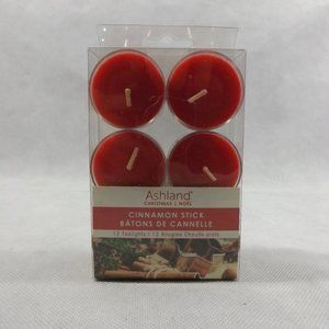 NEW Ashland Cinnamon Stick 12CT Tealights - Red
